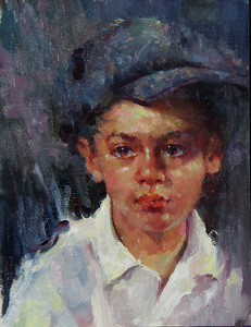 Lorenzo by Michael Maczuga Oil ~ 12 x 9