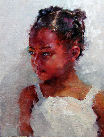 Reluctant by Michael Maczuga Oil ~ 12 x 9