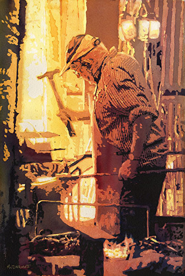 The Blacksmith II - Watercolor