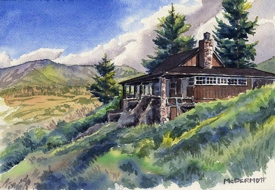 Mark mcdermott work zoom william a white cabin rocky for White rock mountain cabins