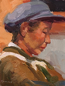 Naxi Woman by Kathryn Townsend Oil ~ 9 x 7