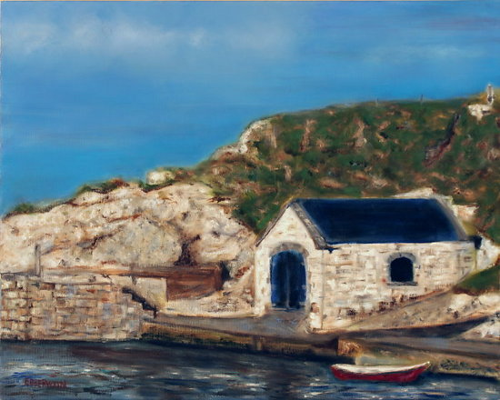 Irish Boathouse - Oil