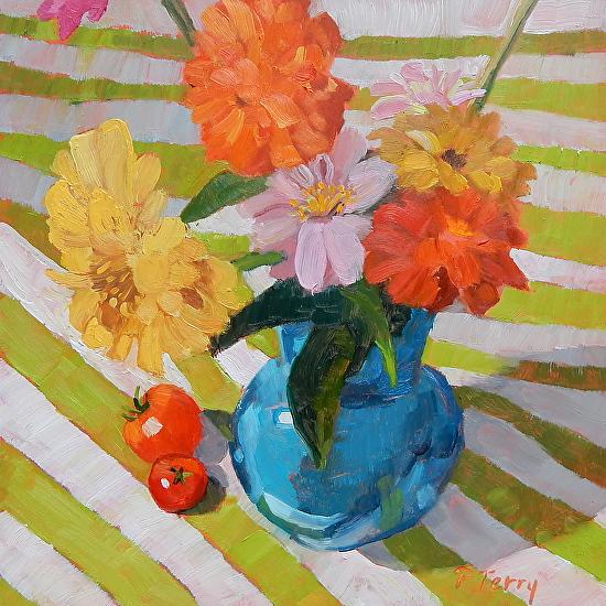 Blue Vase - Oil