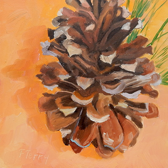 Pine Cone Princess - Oil