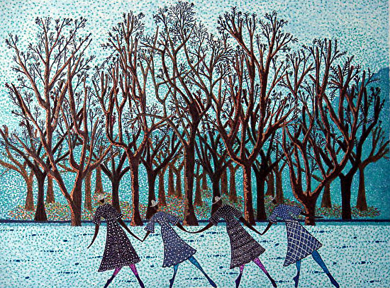 Late Autumn Woodland Stroll - Mixed Media
