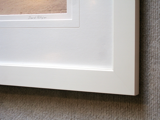White frame detail by Gallery Sur Photography of Big Sur, Carmel, Pebble Beach  ~  x
