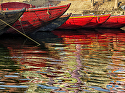 Boats on the Ganges by Gallery Sur Photography of Big Sur, Carmel, Pebble Beach Photograph ~  x