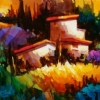 "EVENING SHADOWS  TUSCANY by Nancy O'Toole Acrylic ~ 8"" x 10"""