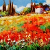 "Spring Fever by Nancy O'Toole Acrylic ~ 9.5"" x 12.5"""