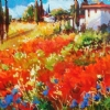 PROVENCAL SPRING by Nancy O'Toole Acrylic ~ 10' x 20""