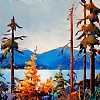 "B.C. VISTA by Nancy O'Toole Acrylic ~ 16"" x 20"""