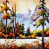 "INDIAN SUMMER ON THE WESTCOAST by Nancy O'Toole Acrylic ~ 30"" x 40"""