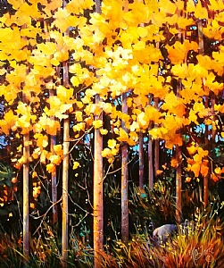 "Golden Grove by Nancy O'Toole Acrylic ~ 36"" x 30"""