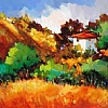ANDALUCIAN HIDEAWAY by Nancy O'Toole Acrylic ~ 11 x 15.5