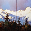 "ON THE EDGE OF WINTER #'s 1 & 2( Diptych) by Nancy O'Toole Acrylic ~ 12"" x 24"""