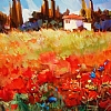 "SPANISH SPRING #2 by Nancy O'Toole Acrylic ~ 16"" x 28"""