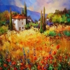 Spring Memories of France by Nancy O'Toole Acrylic ~ 40 x 40