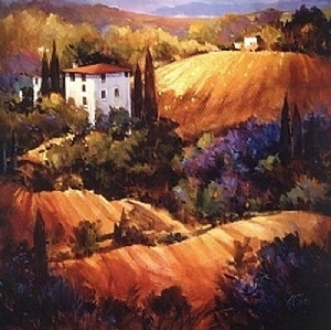EVENING GLOW TUSCANY by Nancy O'Toole Acrylic ~ *Image in 2 sizes x 24