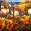 Tuscany Alive by Nancy O'Toole Acrylic ~ 36 x 48