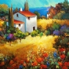 Poppies Provence by Nancy O'Toole Acrylic ~ 30 x 30