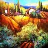 Holiday in Tuscany by Nancy O'Toole Acrylic ~ 12 x 12