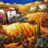 Blue Sky Tuscany by Nancy O'Toole Acrylic ~ 30 x 40