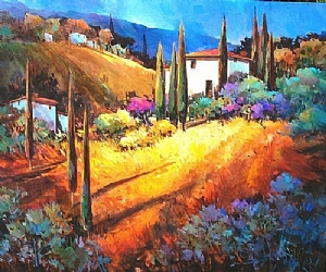Toscana Magnifica by Nancy O'Toole Acrylic ~ 40 x 48