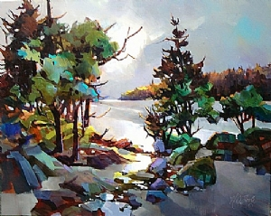 Westcoast B.C. by Nancy O'Toole Acrylic ~ 24 x 30