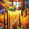 Tuscany Blue by Nancy O'Toole Acrylic ~ 48 x 24
