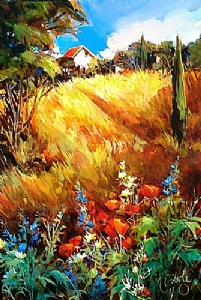 Vendee Afternoon, France by Nancy O'Toole Acrylic ~ 36 x 24