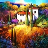 When Shadows fall in Tuscany by Nancy O'Toole Acrylic ~ 36 x 36