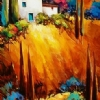 Tuscany Blue 2 by Nancy O'Toole Acrylic ~ 48 x 24
