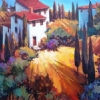 Beautiful Tuscany by Nancy O'Toole Acrylic ~ 24 x 36