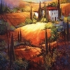 Morning Light Tuscany by Nancy O'Toole Acrylic ~ 40 x 40