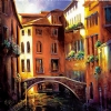 Sunset Venice by Nancy O'Toole Acrylic ~ 40 x 40