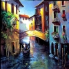 Daybreak Venice by Nancy O'Toole Acrylic ~ 40 x 40