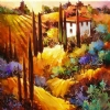 Tuscan Twilight by Nancy O'Toole Acrylic ~ 24 x 24