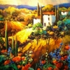 I Papaveri Rossi Toscana by Nancy O'Toole Acrylic ~ 30 x 36