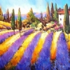 "The Scent of Provence by Nancy O'Toole Acrylic ~ 24"" x 48"""