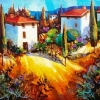 Tuscan Village View by Nancy O'Toole Acrylic ~ 18 x 24