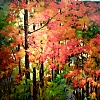 "AUTUMN'S LEGACY by Nancy O'Toole Acrylic ~ 48"" x 48"""