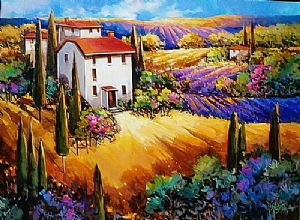 Scented Vista, France by Nancy O'Toole Acrylic ~ 30 x 40
