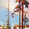 "LATE AUTUMN ON THE WEST COAST by Nancy O'Toole Acrylic ~ 36"" x 18"""