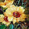 "BLOOMING SUNSHINE by Nancy O'Toole Acrylic ~ 8"" x 8"""