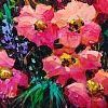 "GARDEN SPARKLE by Nancy O'Toole Acrylic ~ 6"" x 8"""
