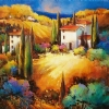 IL Mia  Castella in Toscana by Nancy O'Toole Acrylic ~ 30 x 30