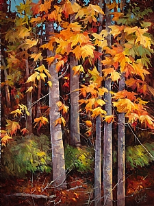 "IN HARMONY WITH NATURE by Nancy O'Toole Acrylic ~ 48"" x 36"""
