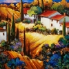 Un Villagio Picollo Toscana by Nancy O'Toole Acrylic ~ 30 x 40