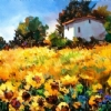 Sunlit Field by Nancy O'Toole Acrylic ~ 20 x 30