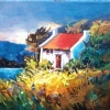 "PADDY'S  COTTAGE (across from Molly's) by Nancy O'Toole Acrylic ~ 12"" x 12"""